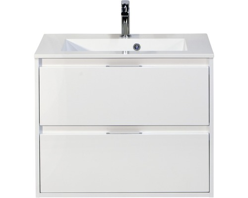 Kit de meubles de salles de bain Porto blanc haute brillance 65.5x70cm