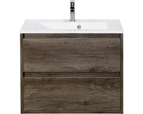 Kit de meubles de salles de bain Porto chêne 65.5x70cm