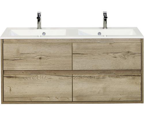 Ensemble de meubles de salle de bains Porto 120 cm avec double vasque chêne nature 84719827