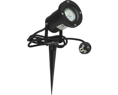 Projecteur de jardin LED 1x3W 250 lm 3000 K blanc chaud h 320 mm avec piquet de terre Janko noir