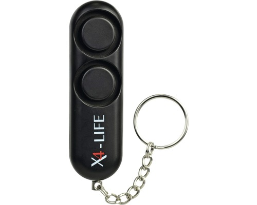 Alarme de poche avec porte-clés 120 dB PL/30 X4-Life noir