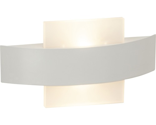 LED éclairage mural 7W 380lm 3000K blanc chaud 255x55mm Solution blanc