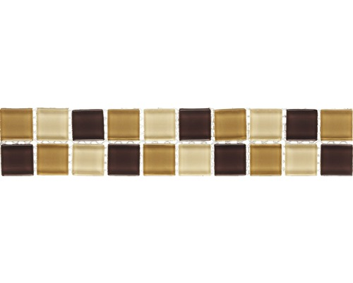 Bordure Juno marron-beige 5x25cm