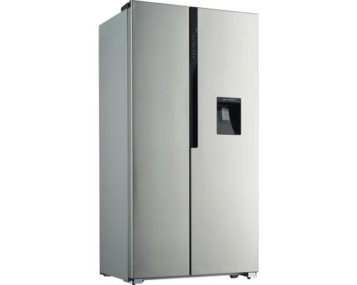 Réfrigérateur américain PKM SBS528.4A+NF lxhxp 90.5 x 179 x 64 cm compartiment de réfrigération 335 l compartiment de congélation 192 l