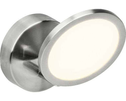 Applique murale LED Pluto fer/blanc avec 1ampoule 500lm 3000K blanc chaud l 110mm
