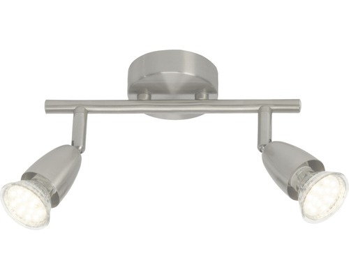 Spot de plafond à LED Amalfi chrome/mat avec 2ampoules 2x250lm 3000K blanc chaud l 255mm
