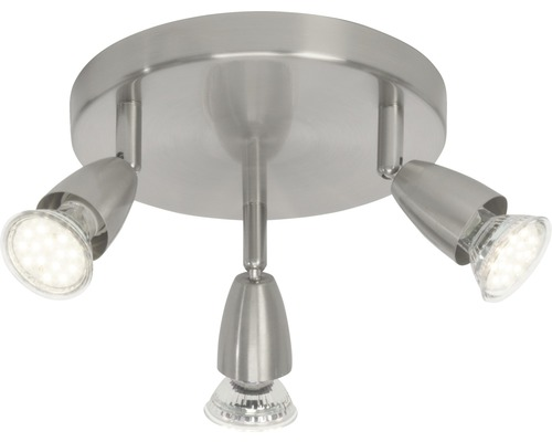 Spot de plafond à LED Amalfi chrome/mat avec 3ampoules 3x250lm 3000K blanc chaud l 190mm