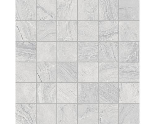 Mosaïque en grès cérame Varana Gris 30x30cm-0