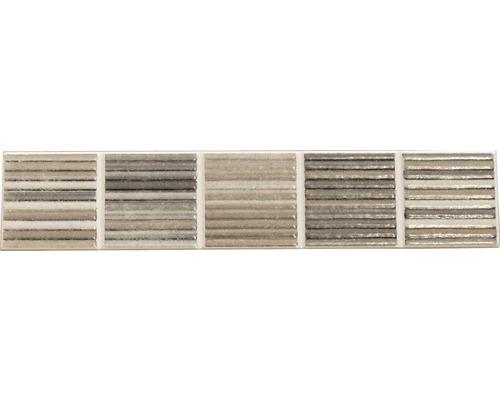 Frise en céramique DL-0710 gris, 25x5 cm