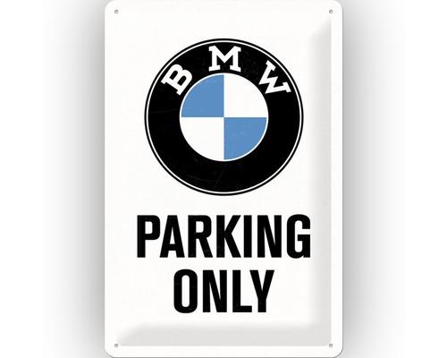 Plaque en métal BMW Parking Only 20x30 cm