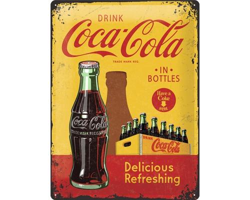 Plaque en métal Coca-Cola Bottles 30x40 cm