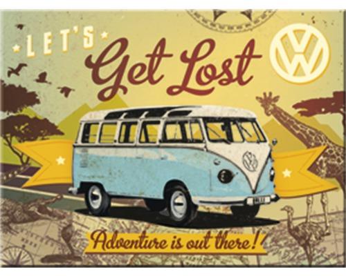 Aimant décoratif VW Bulli Let`s Get Lost 8x6 cm