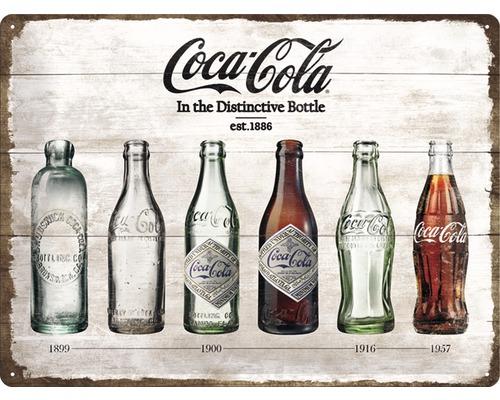 Plaque en métal Coca-Cola Timeline 30x40 cm