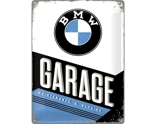Plaque en métal BMW Garage 30x40 cm
