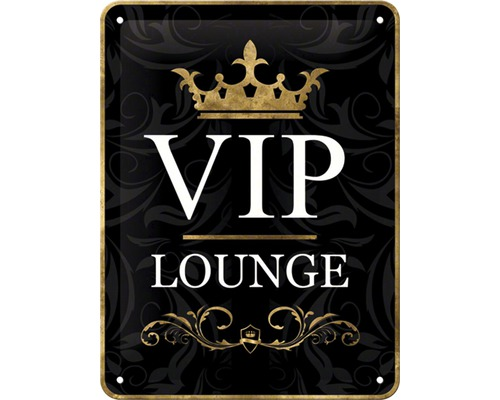 Plaque en métal VIP Lounge 15x20 cm