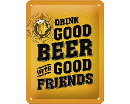Plaque en métal Drink Good Beer 15x20 cm