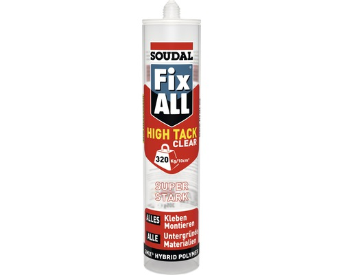 Soudal Fix all High Tack Clear 305 gr.