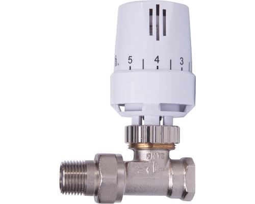 """Kit de robinet thermostatique 1/2"""" passage blanc"""