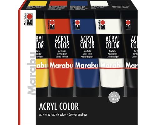 Kit de peinture acrylique pour artiste Marabu Acryl Color 5x 100ml