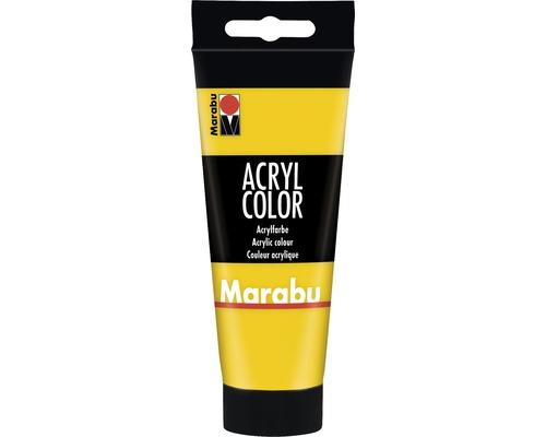 Peinture acrylique pour artiste Marabu Acryl Color 019 jaune 100ml