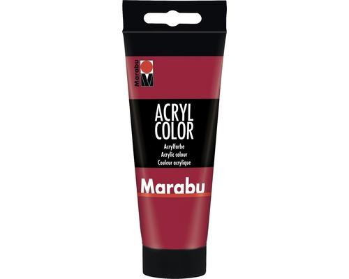 Peinture acrylique pour artiste Marabu Acryl Color 032 rouge carmin 100ml