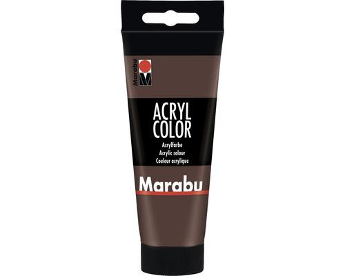 Peinture acrylique pour artiste Marabu Acryl Color 040 marron moyen 100ml