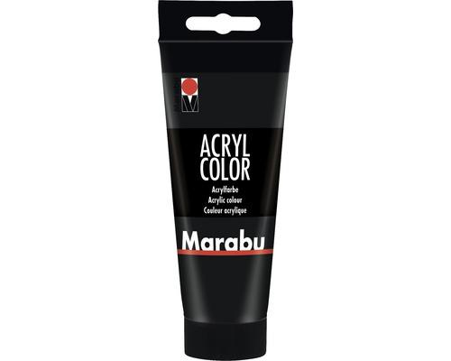 Peinture acrylique pour artiste Marabu Acryl Color 073 noir 100ml