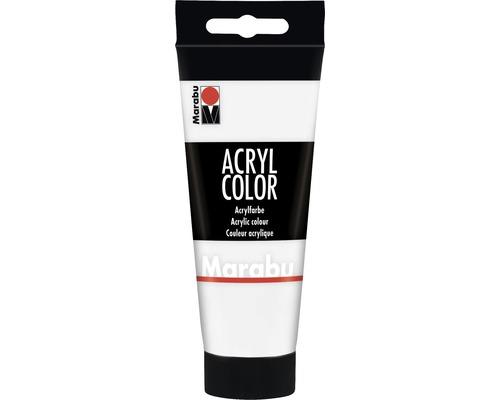 Peinture acrylique pour artiste Marabu Acryl Color 070 blanc 100ml