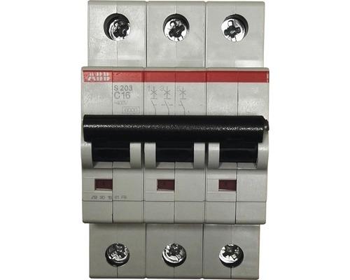 Disjoncteur automatique ABB S203-C16 C 16A 3 pôles