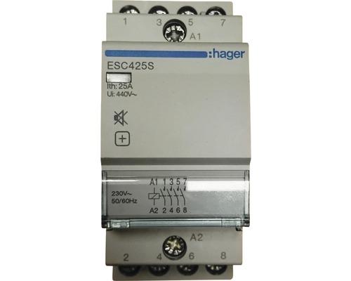 Contacteur d''installation 25A 4 fermeture Hager ESC425S