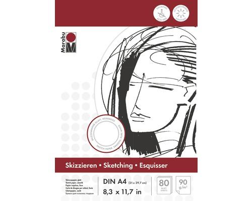 Bloc à dessins Marabu DIN A4