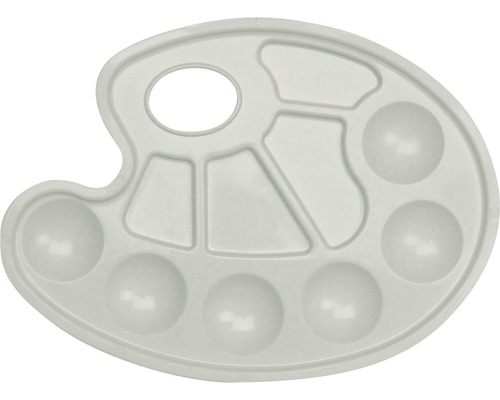 Palette en plastique Marabu pour mélanger les couleurs 23x17 cm ovale
