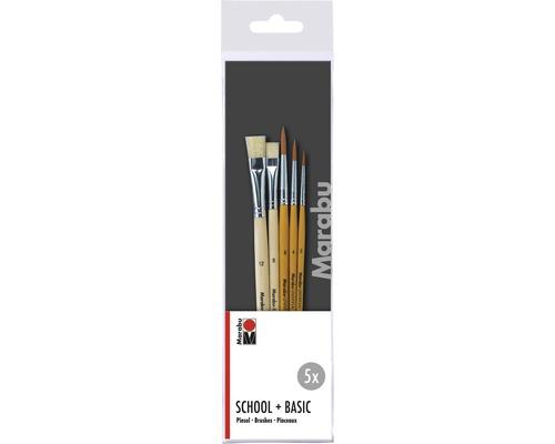 Kit de pinceaux pour artistes Marabu Basic 5pièces