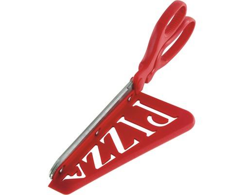 Découpe-pizza, ciseaux de cuisine, Tenneker®, en plastique rouge