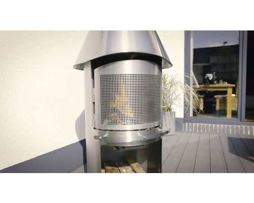 Porte de protection contre les étincelles Buschbeck pour série de cheminées en acier inoxydable Auckland