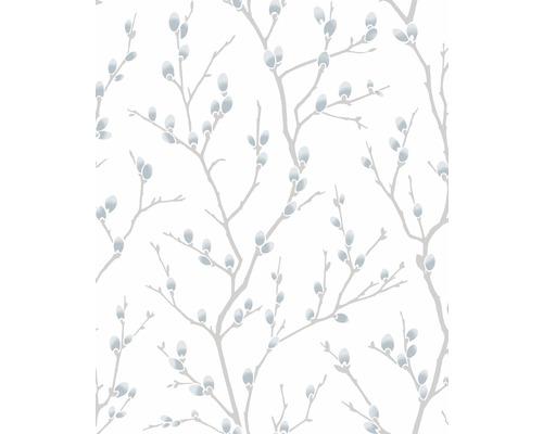 Papier peint intissé prairie blanc