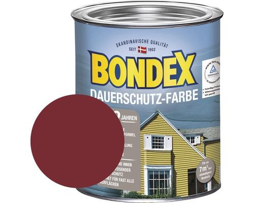 BONDEX Holzfarbe-Dauerschutzfarbe schwedenrot 750 ml