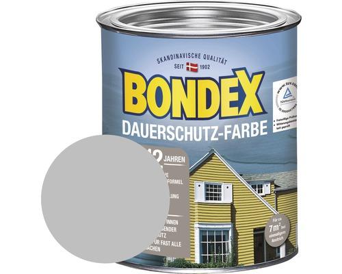 BONDEX Holzfarbe-Dauerschutzfarbe silbergrau 750 ml