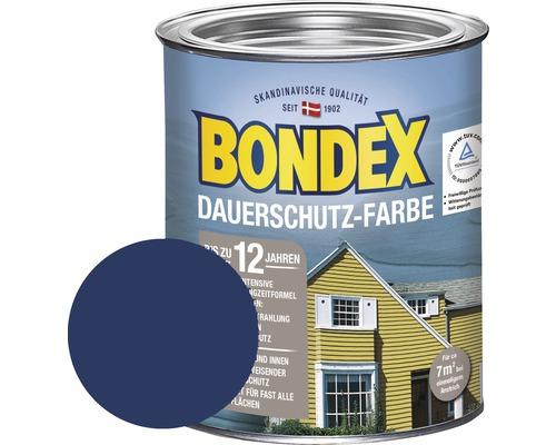 BONDEX Holzfarbe-Dauerschutzfarbe ozean blau 750 ml