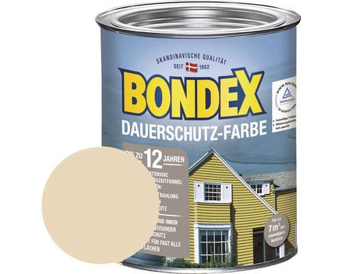 BONDEX Holzfarbe-Dauerschutzfarbe champagner 750 ml