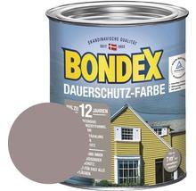 Peinture de protection durable pour bois BONDEX taupe clair 750ml-thumb-0