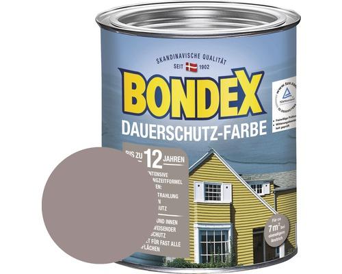 Peinture de protection durable pour bois BONDEX taupe clair 750ml-0