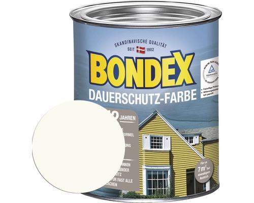 BONDEX Holzfarbe-Dauerschutzfarbe morgenweiß 750 ml