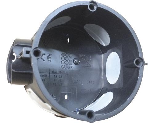 Boîte d'encastrement Kaiser avec membrane étanche noire 25 pièces 1055-2125