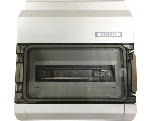 Coffret électrique Hensel 1 rangée 12 unités modulaires gris KV9112-0