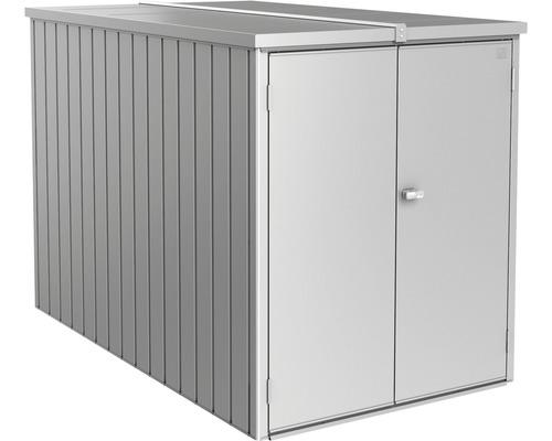 Mini Garage biohort 122x203 cm argent métallique