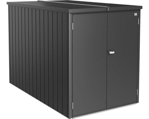 Mini-Garage biohort 122x203 cm gris foncé métallique