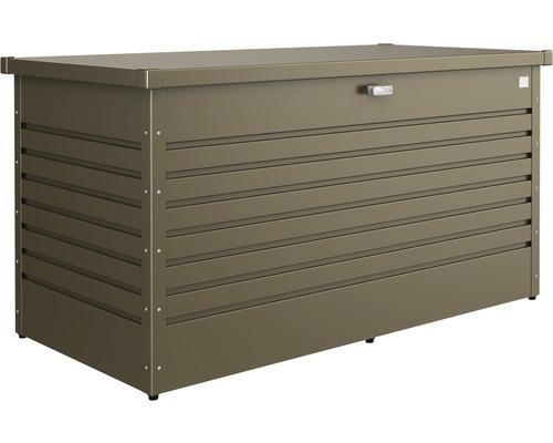Caisse de rangement biohort coffre de jardin 160, de 160 x 79 x 83cm bronze métallique