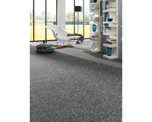 Teppichboden Shag Ideale anthrazit 500 cm breit (Meterware)